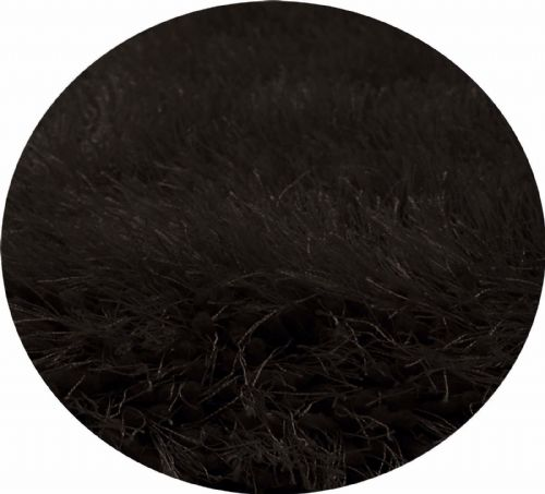 Black Colour Thick Super Soft Fluffy Deep Pile Luxury Plain Stylish Modern Shaggy Rugs